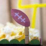 Football Themed Popcorn Box Craft