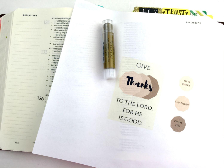 Give Thanks Free Bible Journaling Printable