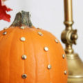 Decorating Pumpkins Using Thumb Tacks