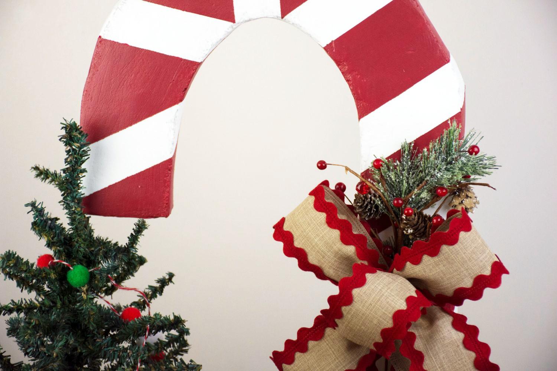Giant Candy Cane Decoration Using Styrofoam