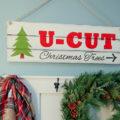 DIY Faux Wood Christmas Sign