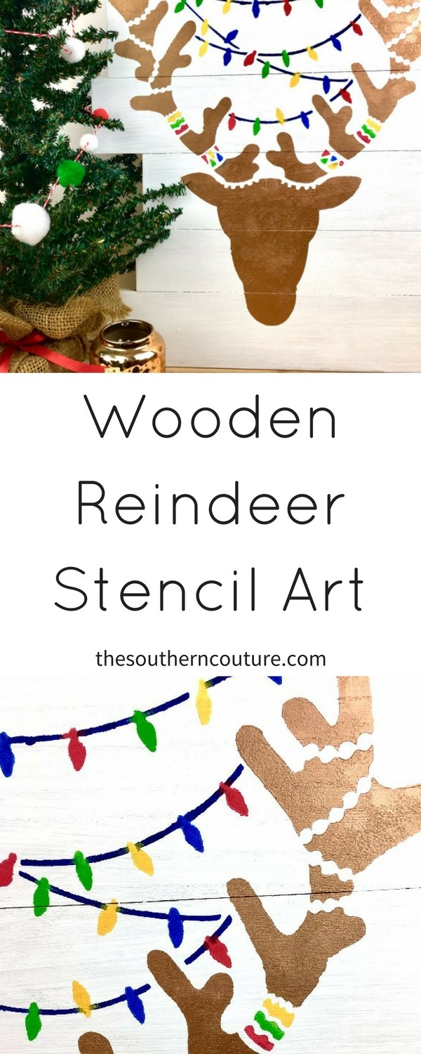 Enjoy some time for yourself during the holidays with this wooden reindeer stencil art that you can make yourself. The stencil makes it simple and easy to use and get beautiful artwork. Find out how I did it NOW!