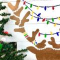 Wooden Reindeer Stencil Art