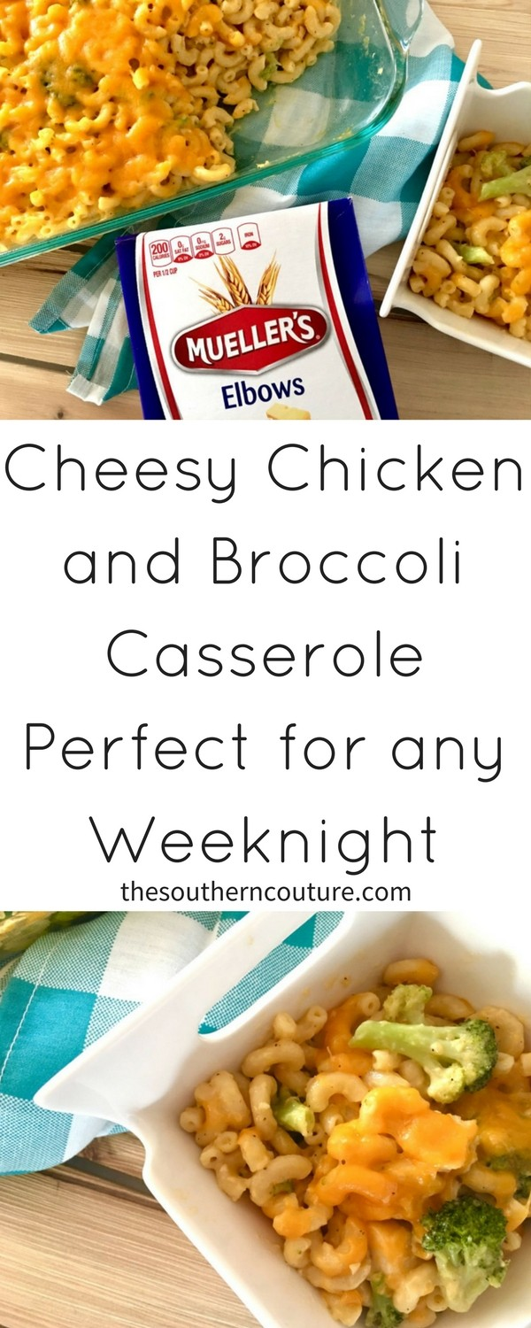 You are going to want to save this recipe for a cheesy chicken and broccoli casserole perfect for weeknight dinner and when having guests over. Get the full recipe now.