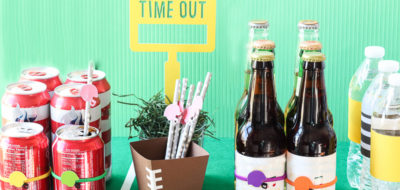 Football Party Game Day Drink Station Ideas