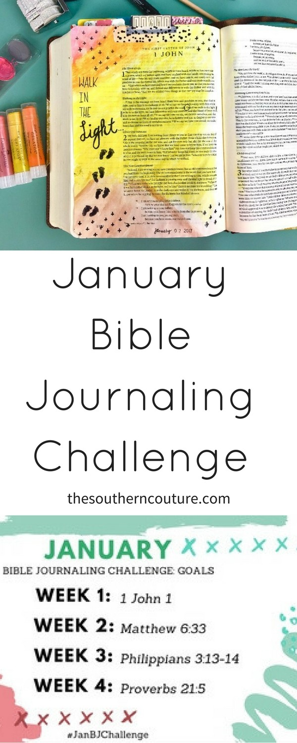 Start the year off right by making your time in the Word a priority with Bible study and Bible journaling. Take this January Bible journaling challenge now.