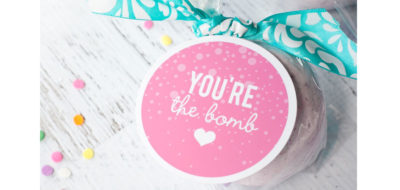 Bath Bomb Tutorial and Printable Gift Tag
