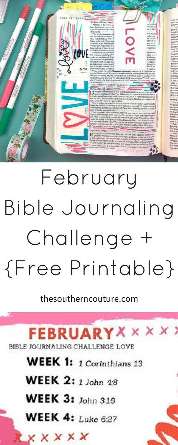 February Bible Journaling Challenge - Southern Couture