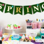 No-Mess Easter Egg Decorating Party Tablescape