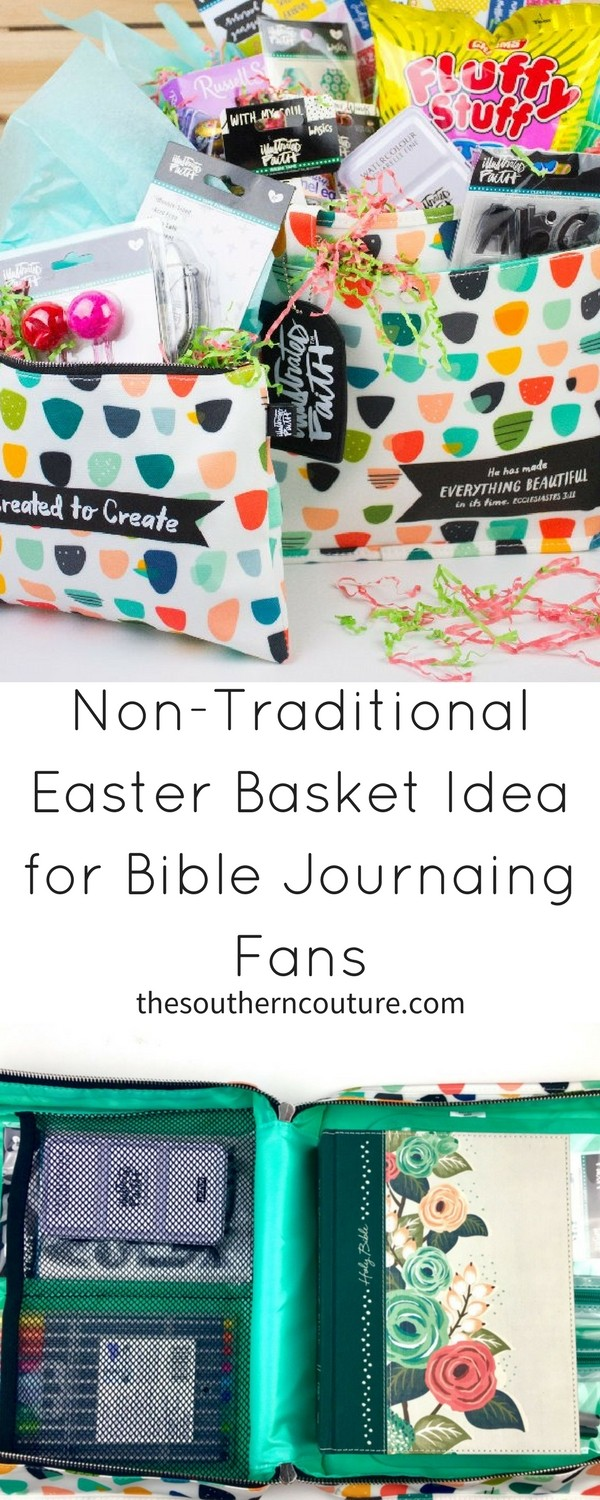 Surprise someone special to you with this non-traditional Easter basket idea for Bible journaling fans. The organization bags doubles as the Easter basket. Get all the details NOW!