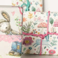 Watercolor Bunny Gift Wrap for Easter