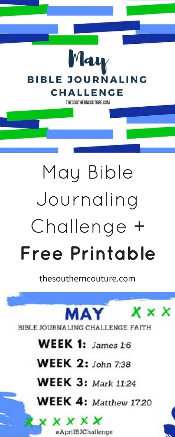 We all could use some focus on faith and trying to grow ours even more. Grow yours using this May Bible Journaling Challenge plus FREE printable. Come print yours NOW!