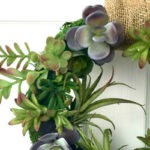 How to Make the Easiest Faux Succulent and Moss Wreath