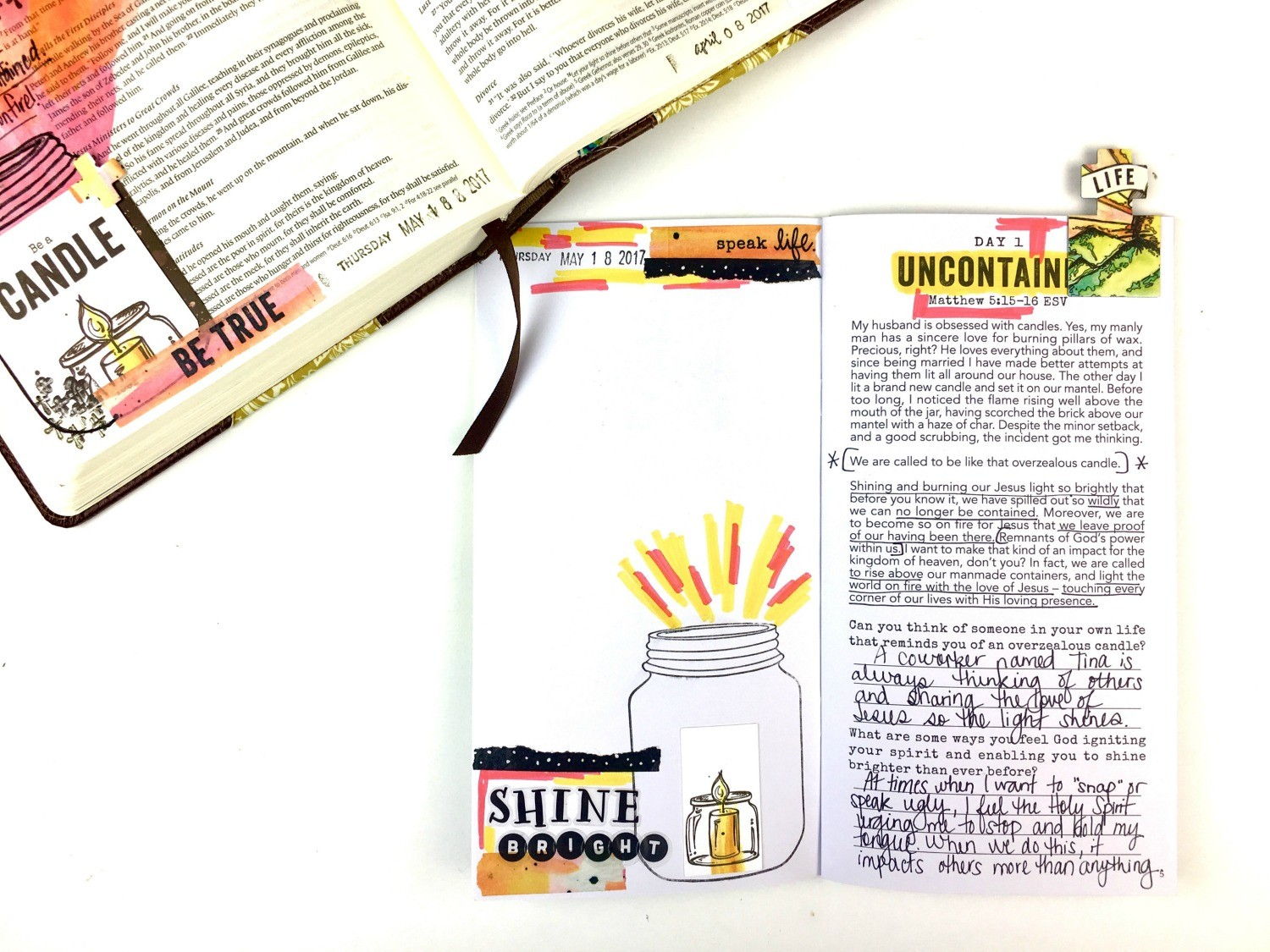 Step out of Your Comfort Zone and Challenge Yourself with Bible Journaling
