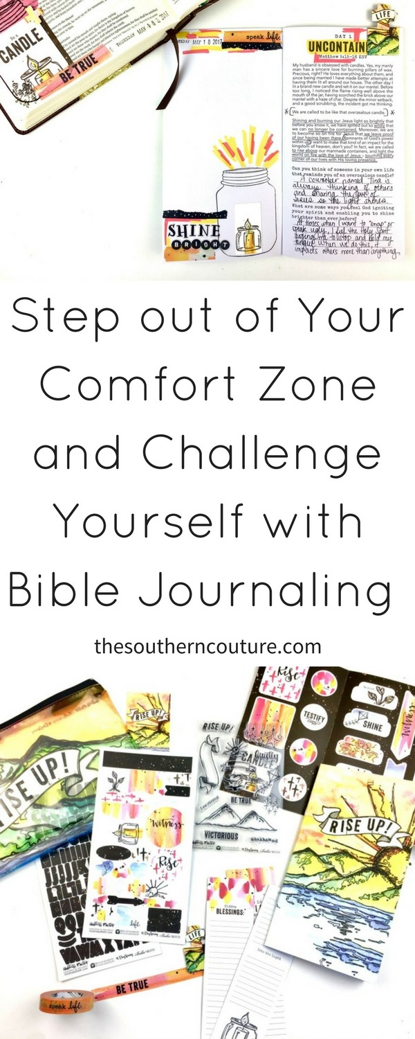 Learn new techniques when it comes to art. Step out of your comfort zone and challenge yourself with Bible journaling and this kit from Illustrated Faith.