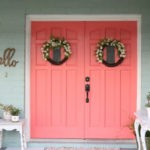 Front Door Makeover Using Bright Paint and No Prep Needed