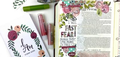 How to Use Gelatos Using a Paintbrush and Water for Bible Journaling