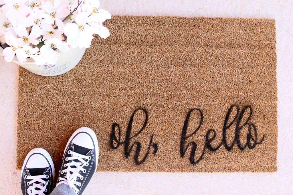 How to Paint a Doormat Using Stencils and Spray Paint