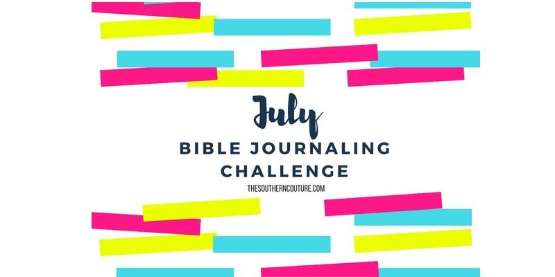 July Bible Journaling Challenge Plus Free Printable