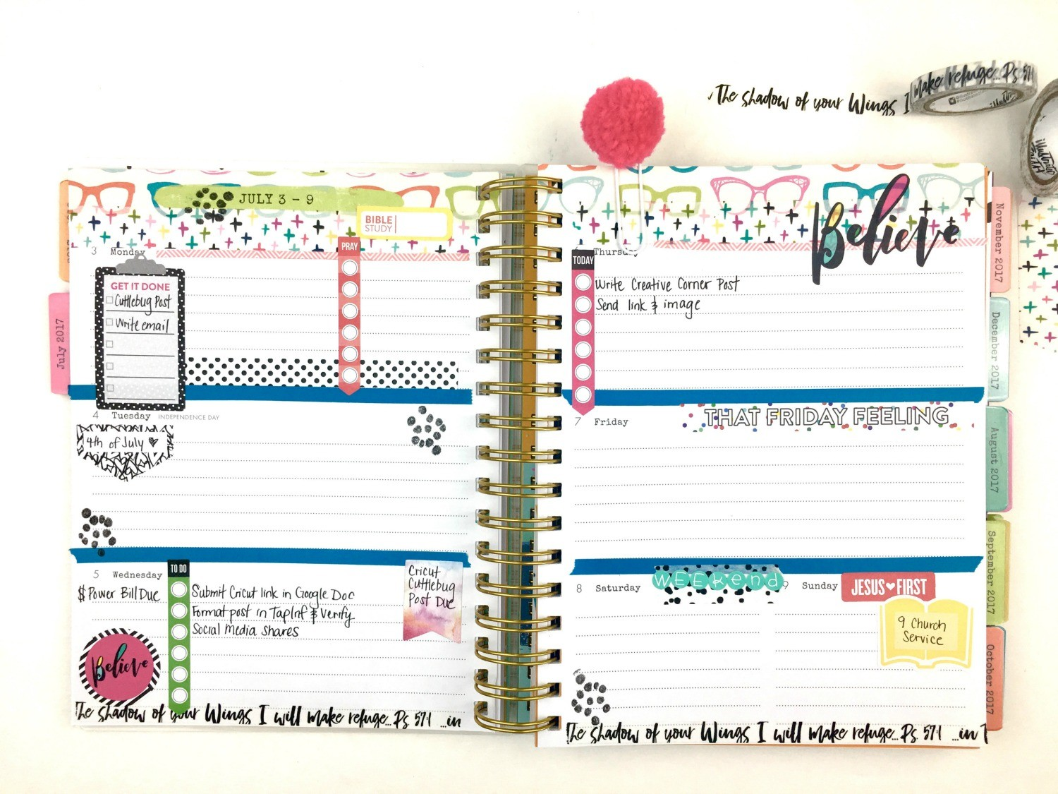 stay organized with planner tips and ideas using the illustrated