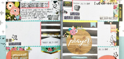 Art Journaling in Praise Book Using Redesigned Illustrated Faith Devotional Kit