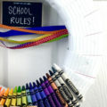 Back to School Themed Wreath using School Supplies