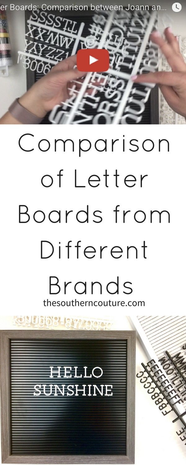Check out this comparison of letter boards from different brands to see the features of each one and how they differ in making a decision on which to purchase.There is even a video to see both and all their details up close and personal.