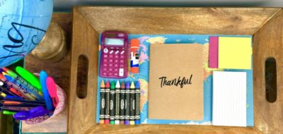 Create a Portable Homework Station using a Serving Tray