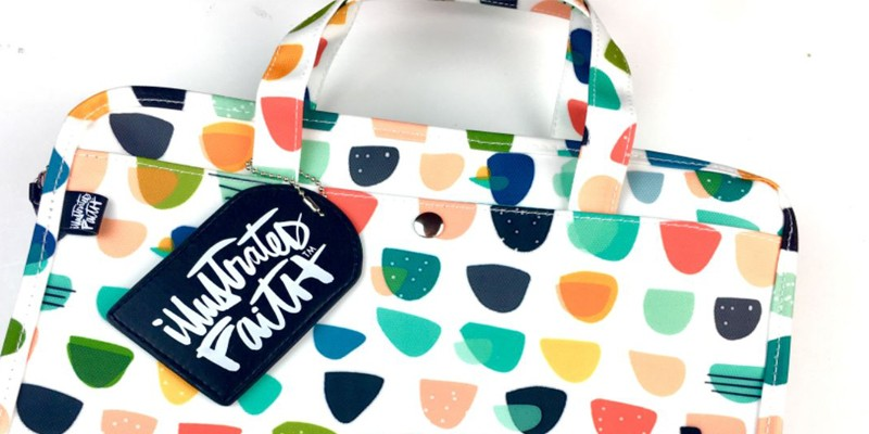 Enjoy Bible Journaling when Traveling with the Illustrated Faith Organization Bag