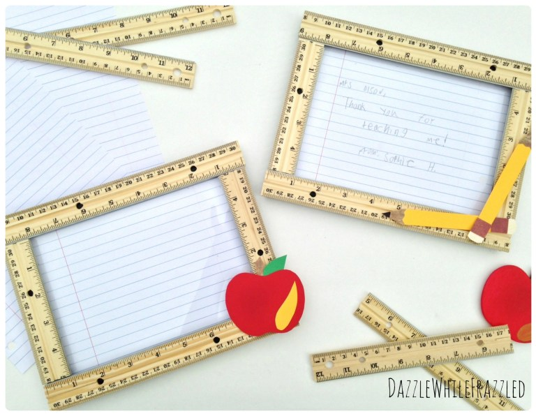 Back to School Teacher Gift Idea using Frame and School Supplies