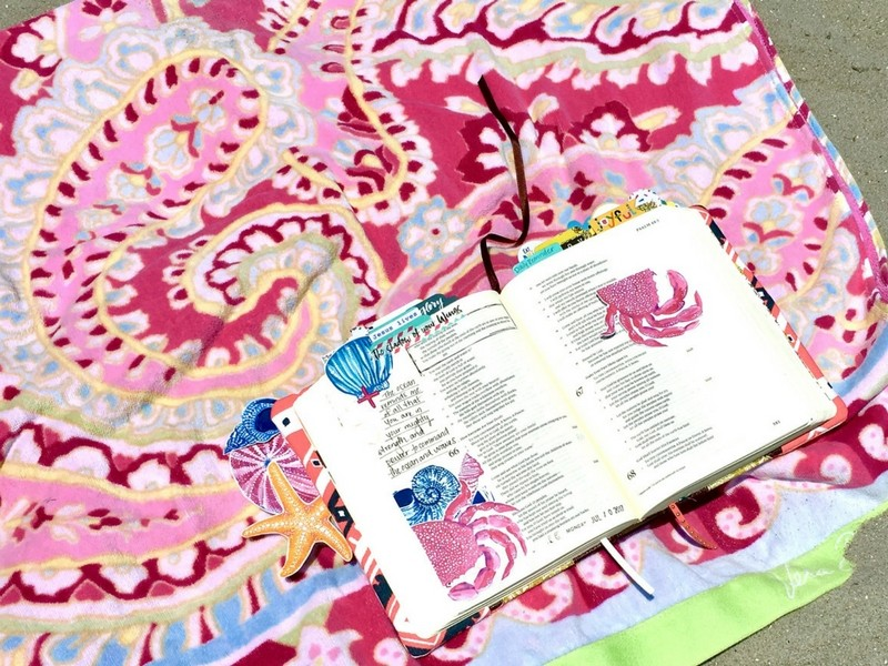 Good-bye to Summer with some Bible Journaling Memories