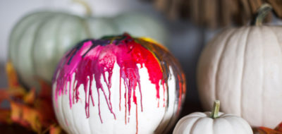 Decorating Pumpkins by Melting Crayons