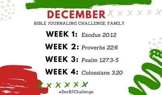 December Bible Journaling Challenge Plus Free Printable
