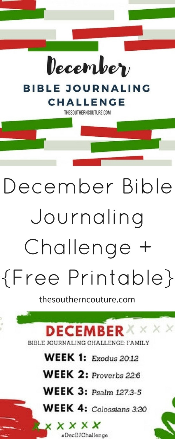 Focus on FAMILY during such a special time of year with the December Bible Journaling Challenge Plus FREE Printable.