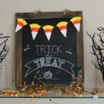 Make a Candy Corn Banner using Cupcake Liners for Halloween