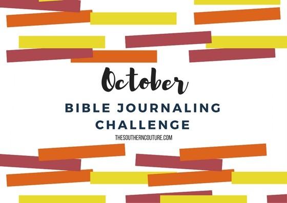 October Bible Journaling Challenge Plus Free Printable