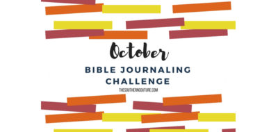 October Bible Journaling Challenge Plus Free Printable