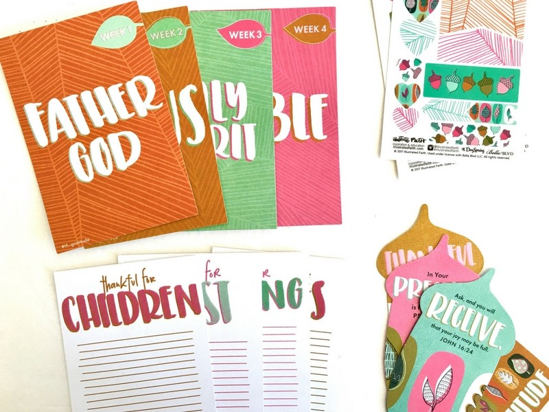 Unboxing of the Newest Illustrated Faith Devotional Kit Gratitude