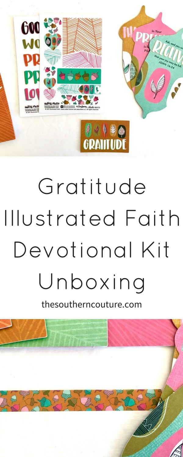 Come check out the newest Illustrated Faith devotional kit Gratitude for November as we express our thanks to Christ during this special month.
