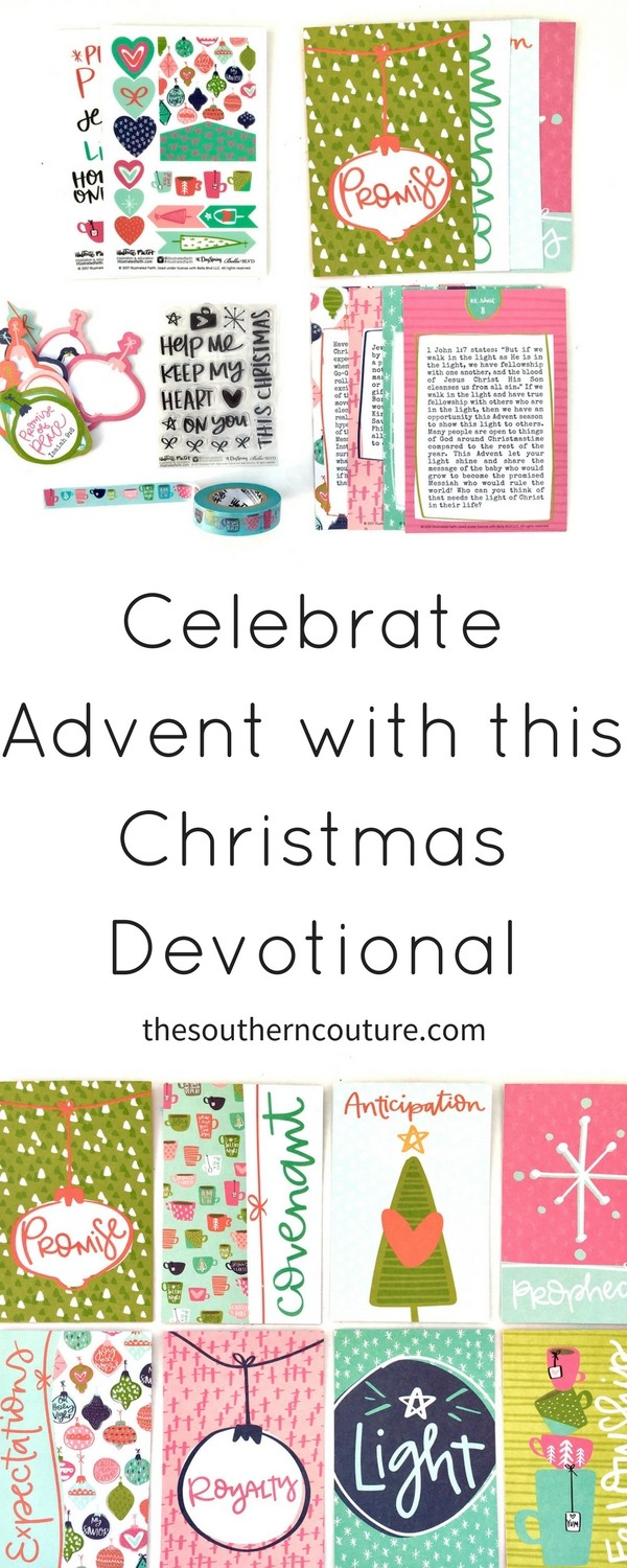 During December, celebrate Advent this Christmas with newest Illustrated Faith kit from Dayspring. You will have devotional cards to walk you through over a week of Bible study.