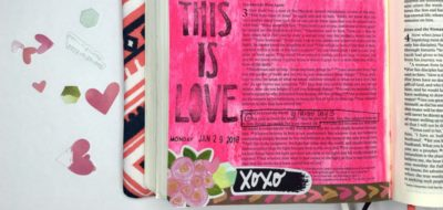 Bible Journaling Process using Gelatos and Newest Illustrated Faith Devotional Kit