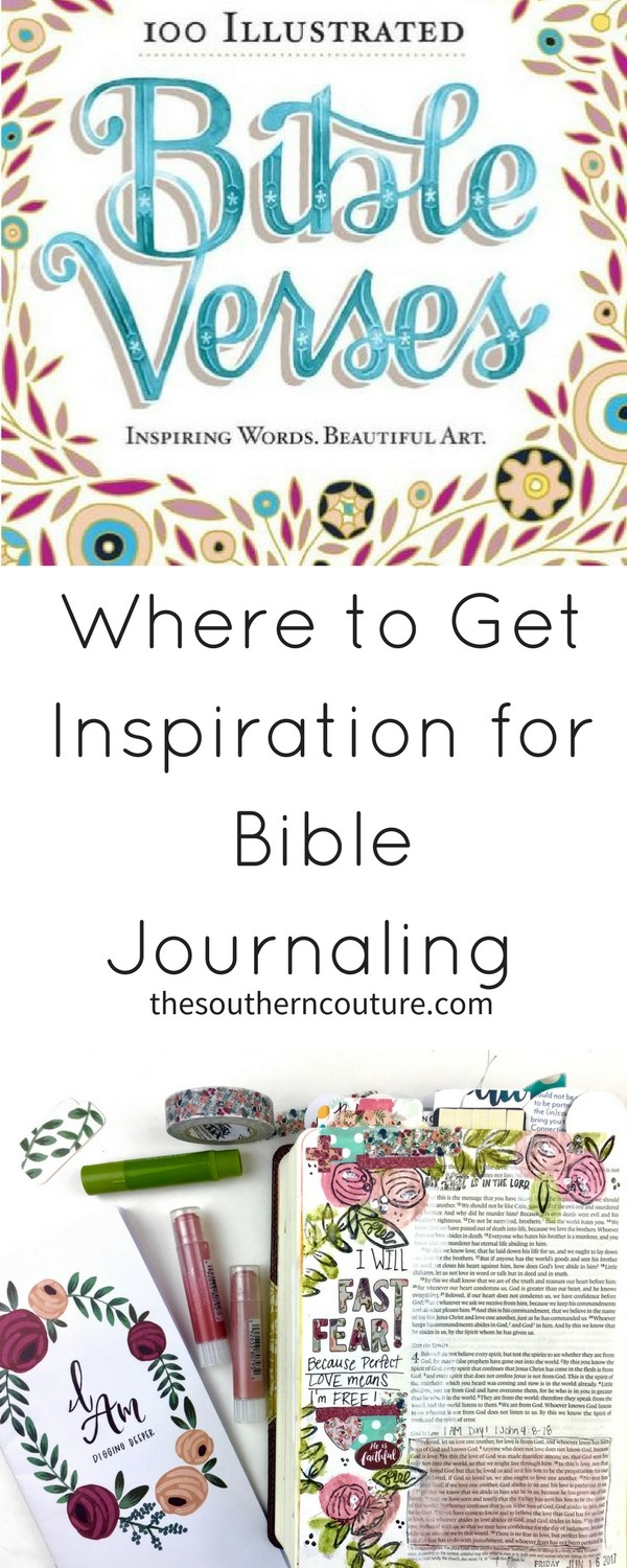 "Once you discover journaling and you want to dive in, the next part is finding where to get inspiration for Bible journaling. Today we are going to explore ways to gain ideas for our next entries as Part 3 of ""All About the Bible Journaling"" Series."