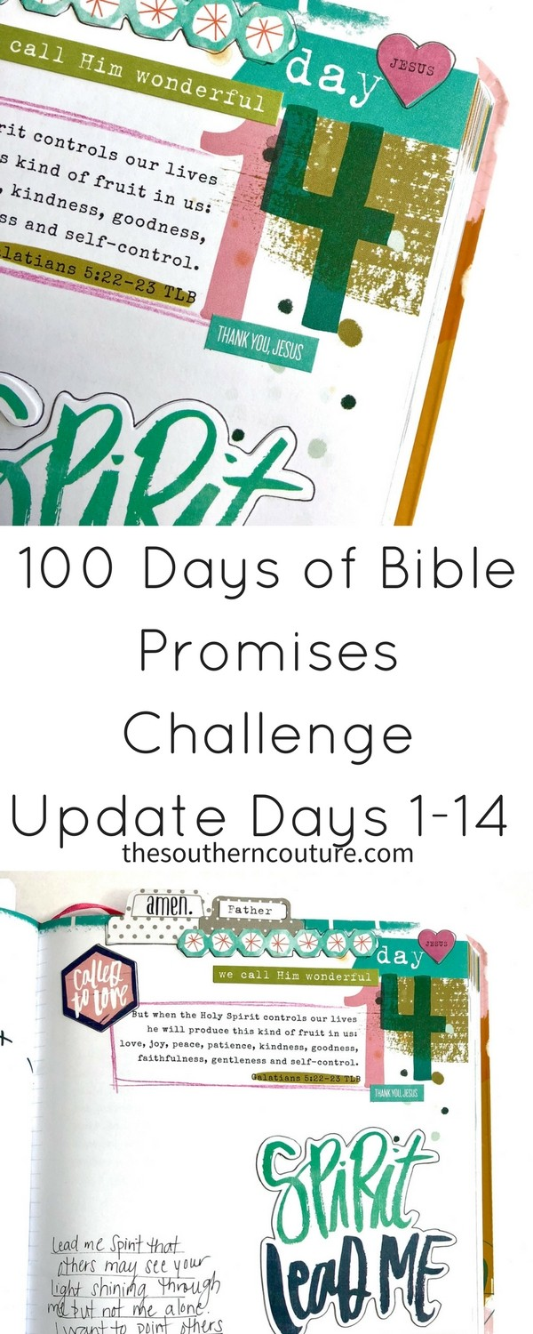 Today check out my 100 Days of Bible Promises Challenge Update Days 1-14  where
